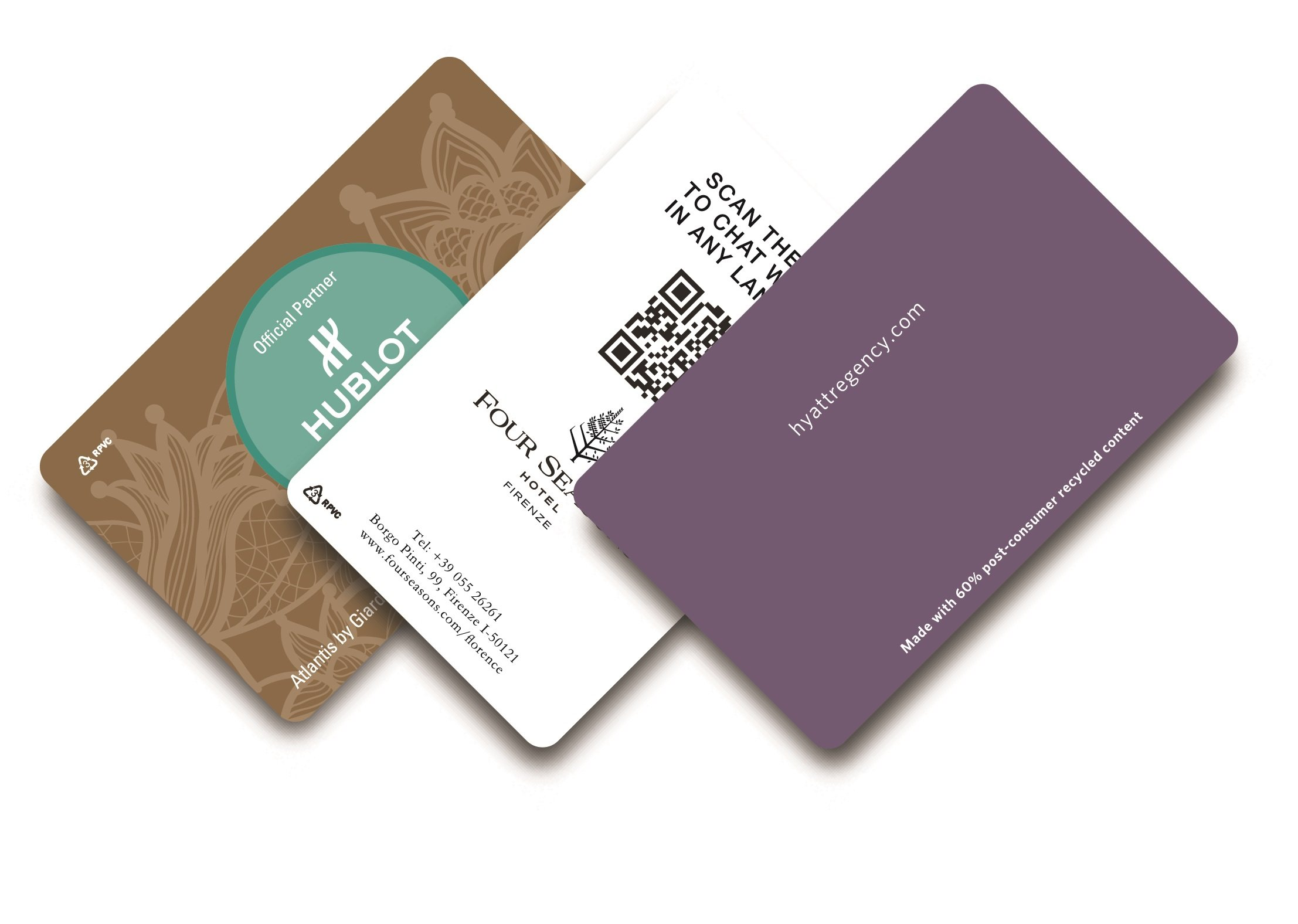 Recycled PVC RFID Hotel Key Cards